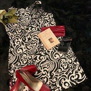 🚨 AGB Dress Black & White Printed Dress Sz 12